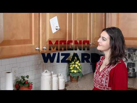 The Magna Wizard - Transform wooden cabinets anywhere in your house into a magnetic surface like your refrigerator!