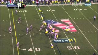 2013 Michigan Football Highlights at Northwestern