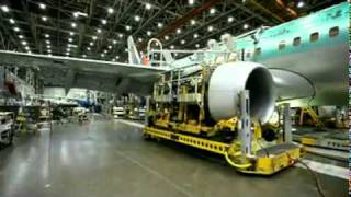 Manufacturing of Boeing Aeroplane in Factory