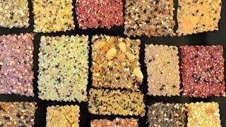 DIY Whole Grain Crackers -- Easy, quick, healthy, & delicious