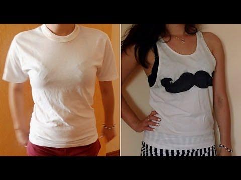 Jak przerobić t-shirt w wąsatym stylu