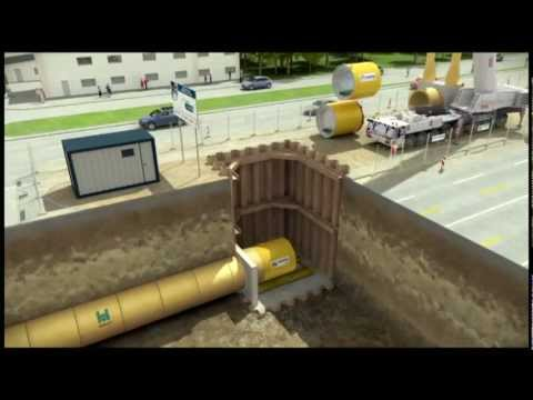 Hobas Jacking Process Animation Youtube