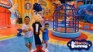 BIGGEST Harry  Bunnie  DinoCore Indoor Theme Park Kids Fun Video CKN Toys