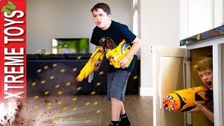 First Day Of Summer Vacation! Extreme Nerf Hide and Seek Challenge!