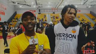 COLE ANTHONY Talks Why he picked UNC Commit During  Iverson Roundball Classic