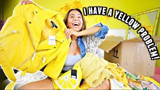 I Bought $970 of ONLY YELLOW Clothes... FALL CLOTHING HAUL!