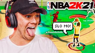 i tried the SLOWEST JUMPSHOT on NBA 2K21... SO EASY TO GREEN!