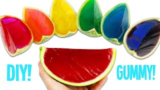 How to Make Rainbow Gummy Watermelon | Fun & Easy DIY Jello Gummy Treats to Try at Home!