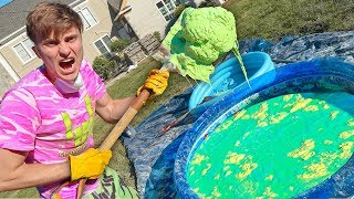 OOBLECK SWIMMING POOL!! (GONE WRONG)