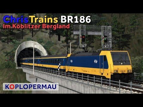 Train Simulator 2018 ChrisTrains BR186 op Im Kblitzer Bergland v3