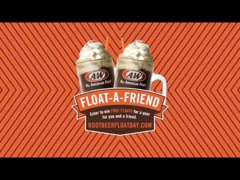 Celebrate National Root Beer Float Day at A&W and win root beer floats for a whole year!