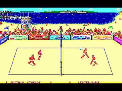 Kings of the Beach (Michael Abbot & Nana Chambers) (MS-DOS) [1988] [PC Longplay]