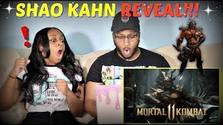 "Mortal Kombat 11 ""Official Shao Kahn Reveal Trailer"" REACTION!!!"