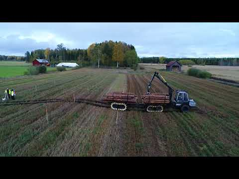 Malwa 560F with Trailer. Soil impact test with Skogforsk