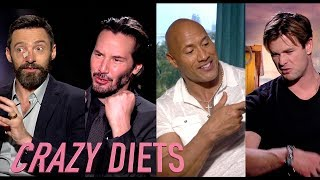 Celebrity (CRAZY) Body Transformations. Pain and Gain / Insane Diets & Fitness Plans