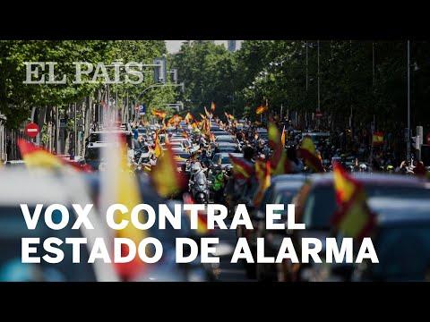 #VOX   Manifestación convocada contra el ESTADO DE ALARMA en la FIESTA NACIONAL