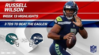 Russell Wilson's Explosive Night w/ 3 TDs vs. Philly! | Eagles vs. Seahawks | Wk 13 Player HLs