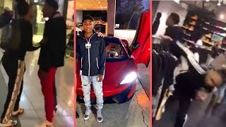 NBA YoungBoy Runs Up On Group Of Dudes In The Mall With Jania Shopping and Shows 2018 McLaren Car