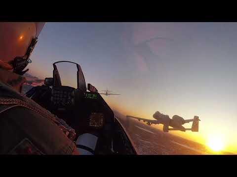 Super Bowl LII GoPro footage Heritage Flight flyover