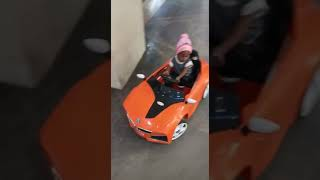 My baby driving car in MGB mall