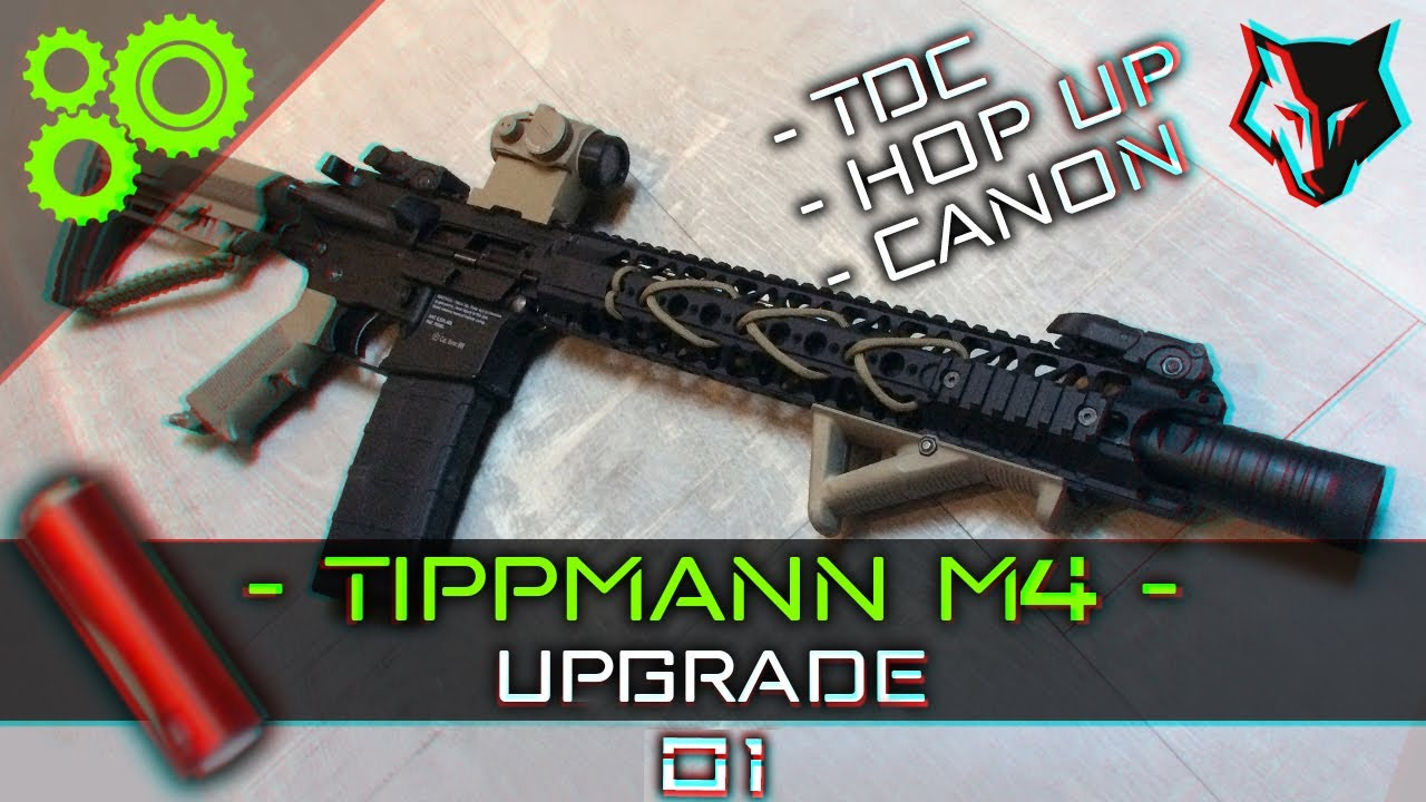 Tippmann M4 Upgrade #01 - TDC, Hop-Up et Canon ► AIRSOFT