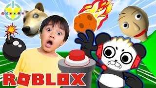 DON'T TOUCH THE BUTTON IN ROBLOX! RYAN VS COMBO PANDA LET'S PLAY
