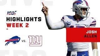 Josh Allen Throws & Rushes for 2 TDs   2019 NFL Highlights