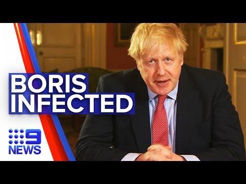Coronavirus: Boris Johnson becomes first positive world leader | Nine News Australia