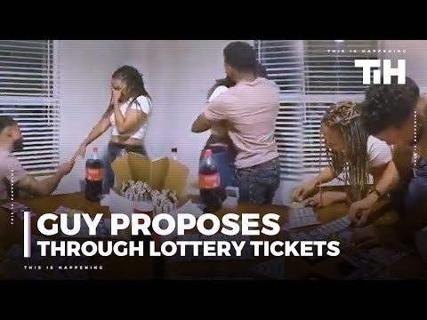 Guy Proposes To Girlfriend Through Lottery Tickets