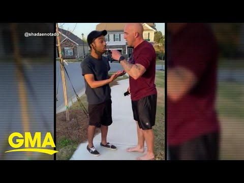 White soldier charged with assault for shoving, berating Black man in viral video l GMA