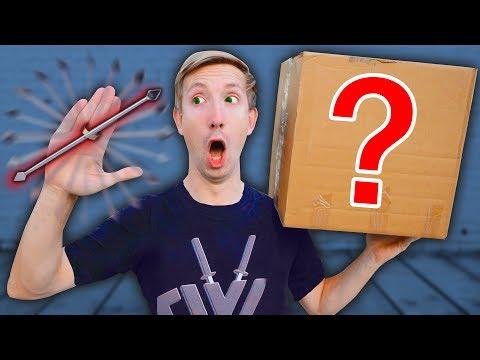 NINJA WEAPONS MYSTERY BOX to Battle PROJECT ZORGO (Gadgets Unboxing Haul Top Secret Clues of Hacker)