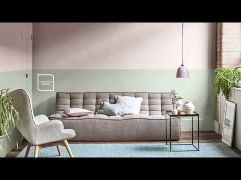 How to create a split wall paint effect