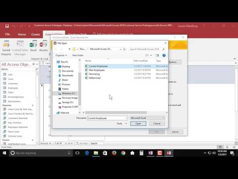 Importing Objects from Excel - Access 2016 tutorial