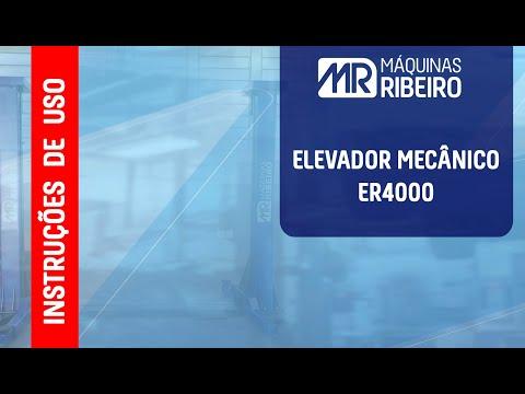 Elevador Automotivo 4Ton Er4000 Azul Máquinas Ribeiro Tri 220V - Vídeo explicativo
