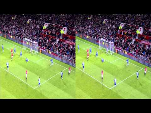 Sky - Man United VS Wigan Goals - 3D Side by Side