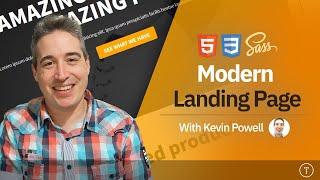 Build a Modern Landing Page Website   HTML & CSS