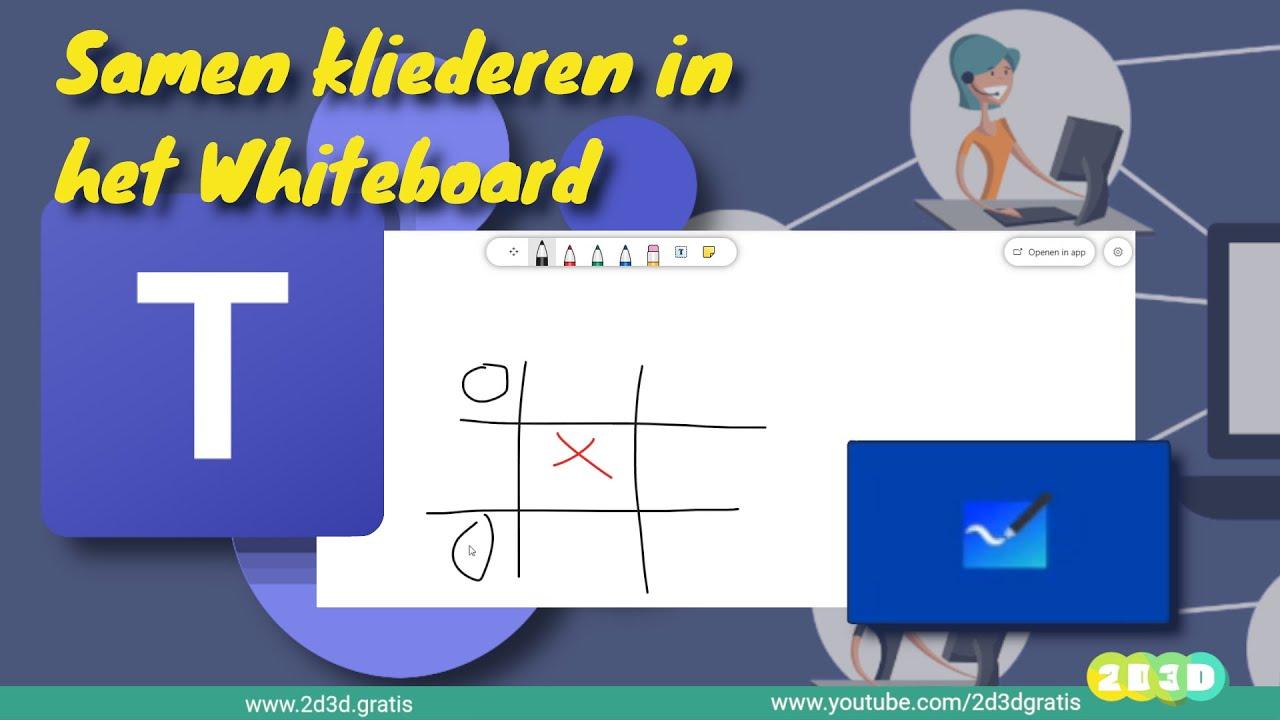 Teams: Samenwerken met het whiteboard