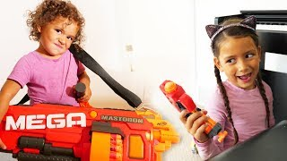 Nerf Girls' Adventures! | BOY VISION
