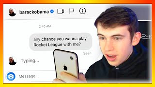I SENT A DM TO 100 CELEBRITIES TO PLAY ROCKET LEAGUE *it worked*