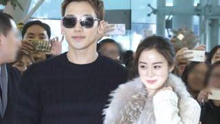 #비-#김태희, '한류 커플의 신혼 여행 출국길'