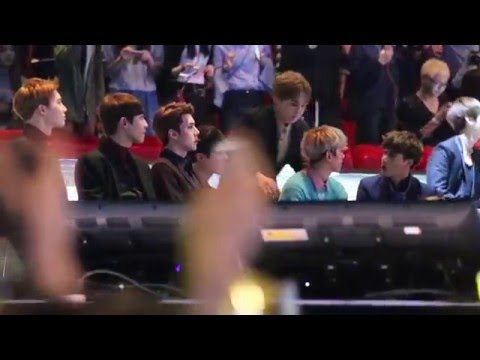151202 MAMA EXO watching BIGBANG