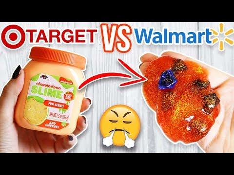 TARGET SLIME VS WALMART SLIME! Which is Worth it?!?