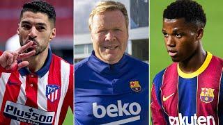 Ronald Koeman SPEAKS ahead of Barcelona vs Atletico Madrid | Suarez's return, Ansu Fati's surgery