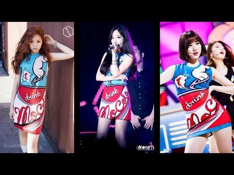 Who wore it better? (SNSD Taeyeon; Apink Naeun; GFriend Eunha)