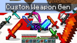 Minecraft Bedwars but I added custom weapon generators...