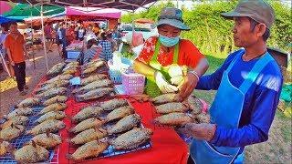 Tha U then Street food 🔴 asian food in thai market