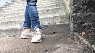 Adidas yeezy 350 (on feet) Oxford tan   And Turtle dove