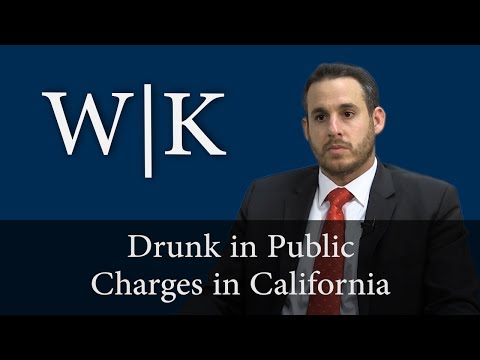 Drunk In Public Charges in California (PC 647(f))
