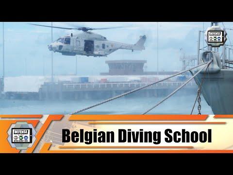 Belgian Minister of Defense visits the diving school in Zeebrugge naval base Belgian Navy Belgium