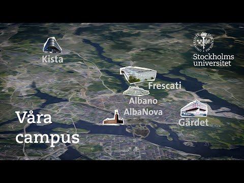 Upptäck Stockholms universitets olika campus och områden